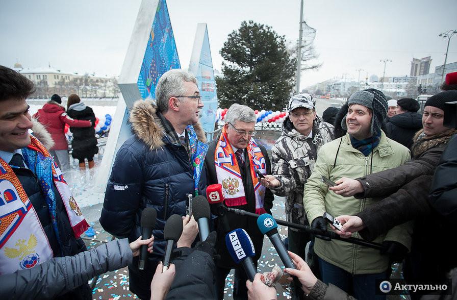 Олимпийские часы и чиновники городской администрации - ИА Актуально