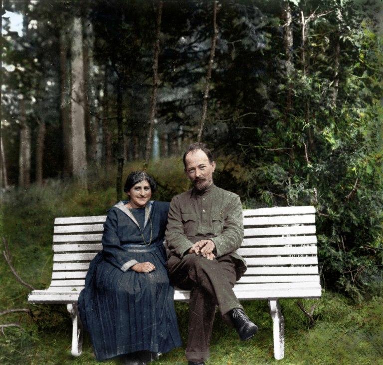 Феликс Дзержинский с женой Софьей Мушкат, 1923
