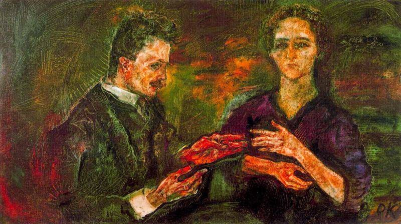 Hans-Tietze-and-Erica-Tietze-Conrat-1909-by-Oskar-Kokoschka