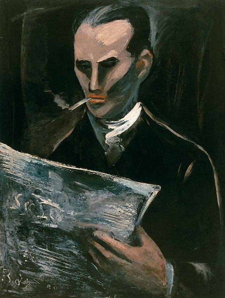 Ростислав Барто. Читающий журнал. 1928