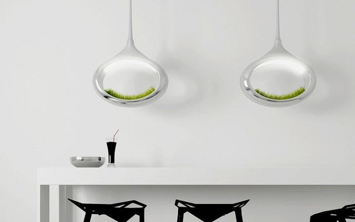 Лампа с травой