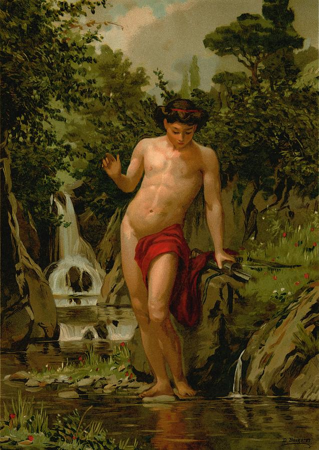 narcissus-in-love-with-his-own-reflection-dionisio-baixeras-verdaguer