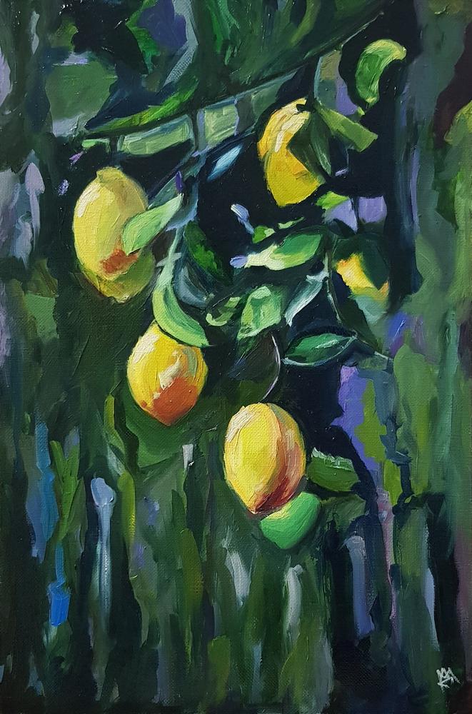 Лимоны. Живопись маслом