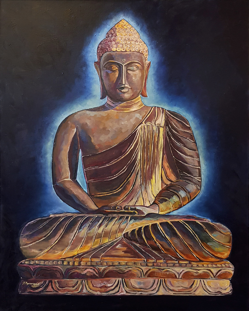 Будда. Живопись маслом