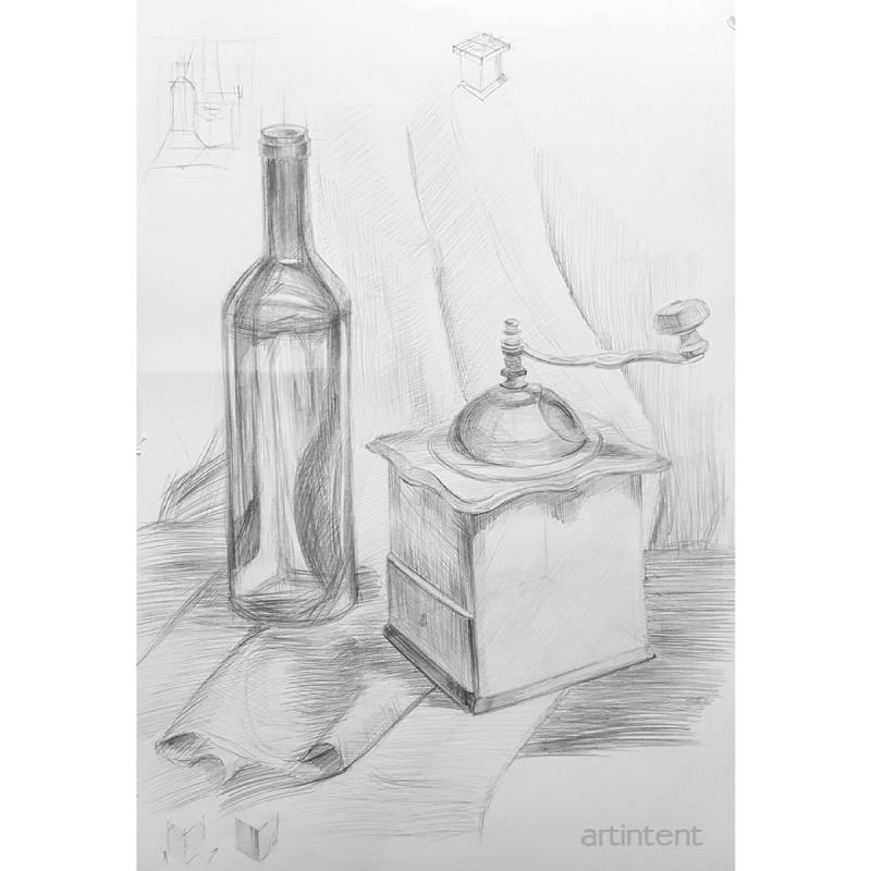 Рисование карандашом предметов малых форм