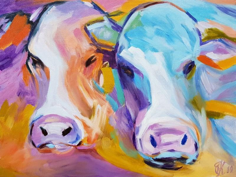 Живопись маслом. Коровы