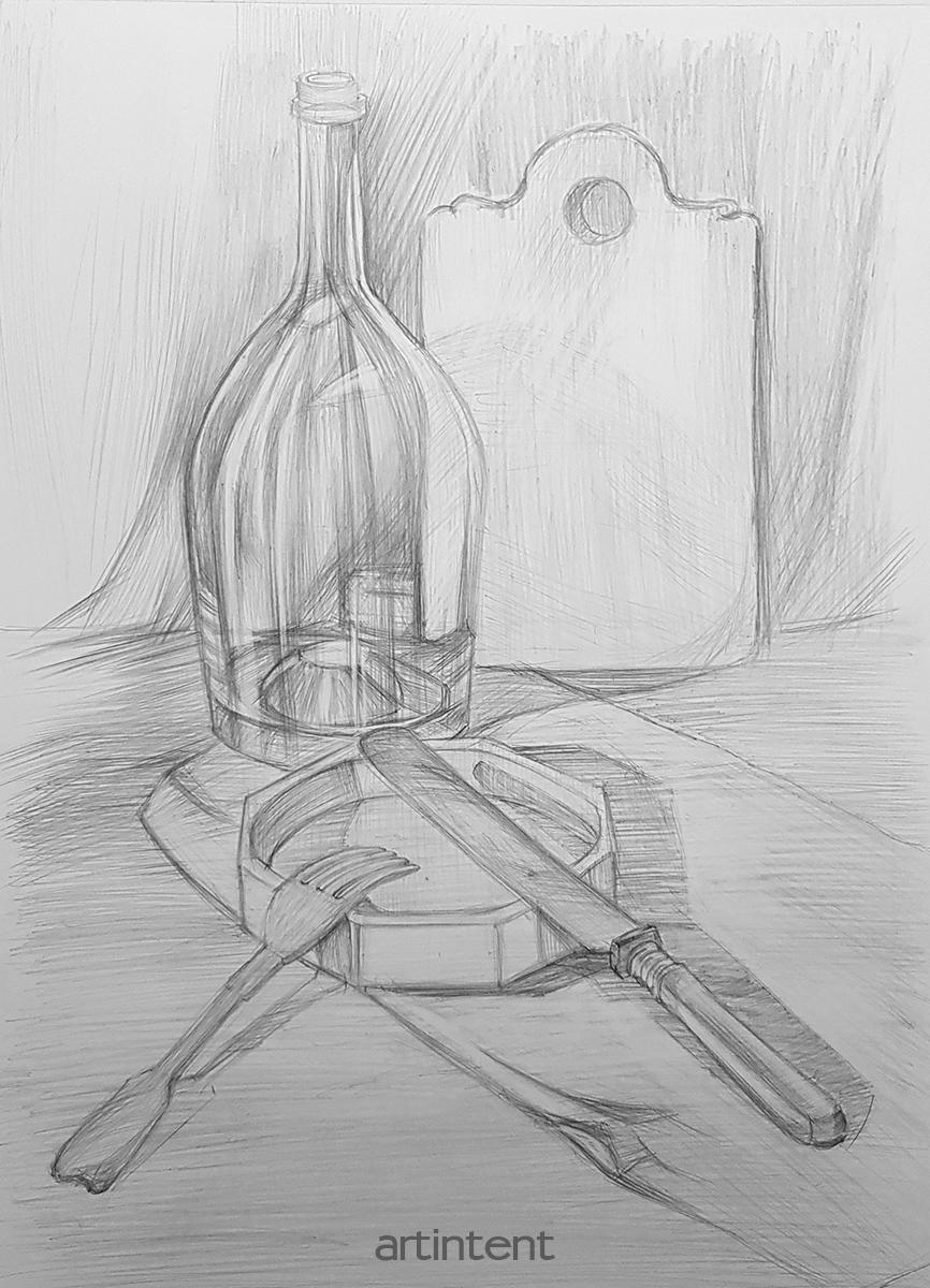 Рисование карандашом, обучение для начинающих