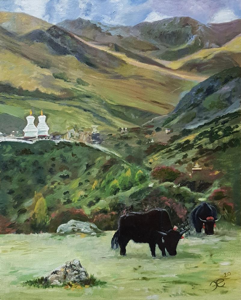 Картина маслом. Тибет
