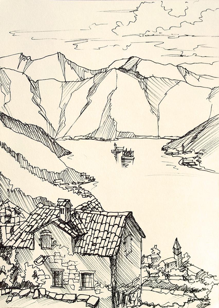 Александр Буданов, зарисовка графика