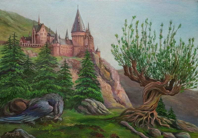 Живопись маслом hogwarts