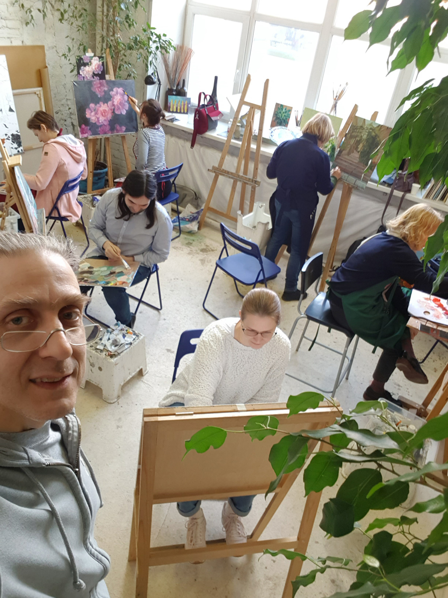В студии Артинтент на Бережковской