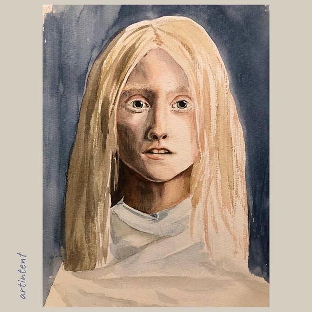 Портрет живопись акварель