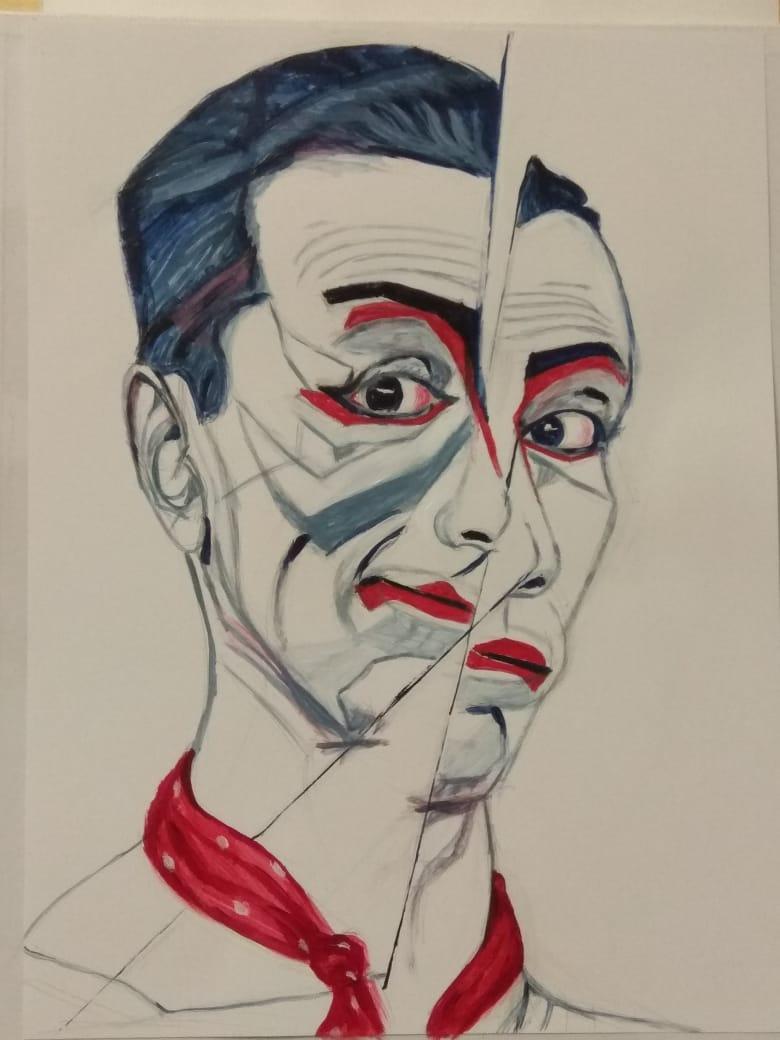 Артинтент абстракция портрет