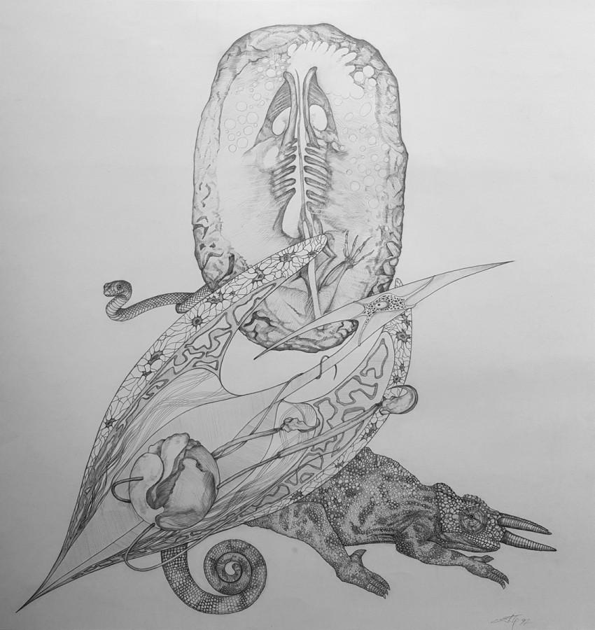 """Александр Буданов """"Генезис"""" рисунок карандашом"""