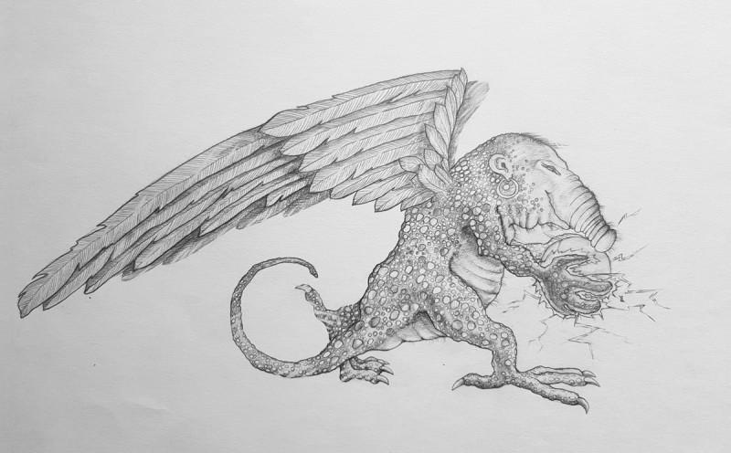 Александр Буданов. Иллюстрация. Рисунок карандашом