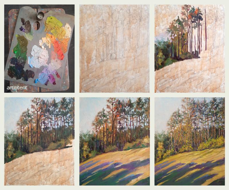 Александр Буданов поэтапная живопись маслом пейзаж