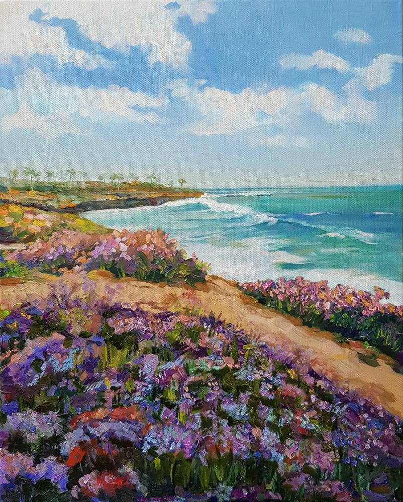 Артинтент - живопись маслом морской пейзаж