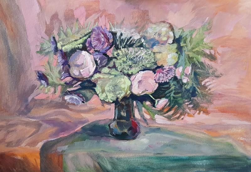 Артинтент - живопись маслом, цветы