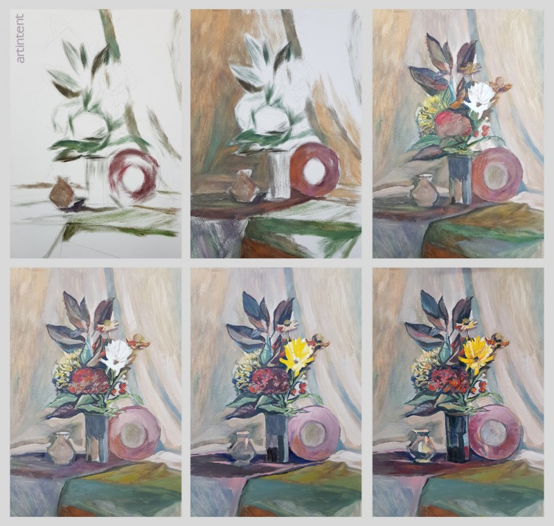 Артинтент - урок живописи. Поэтапная живопись маслом