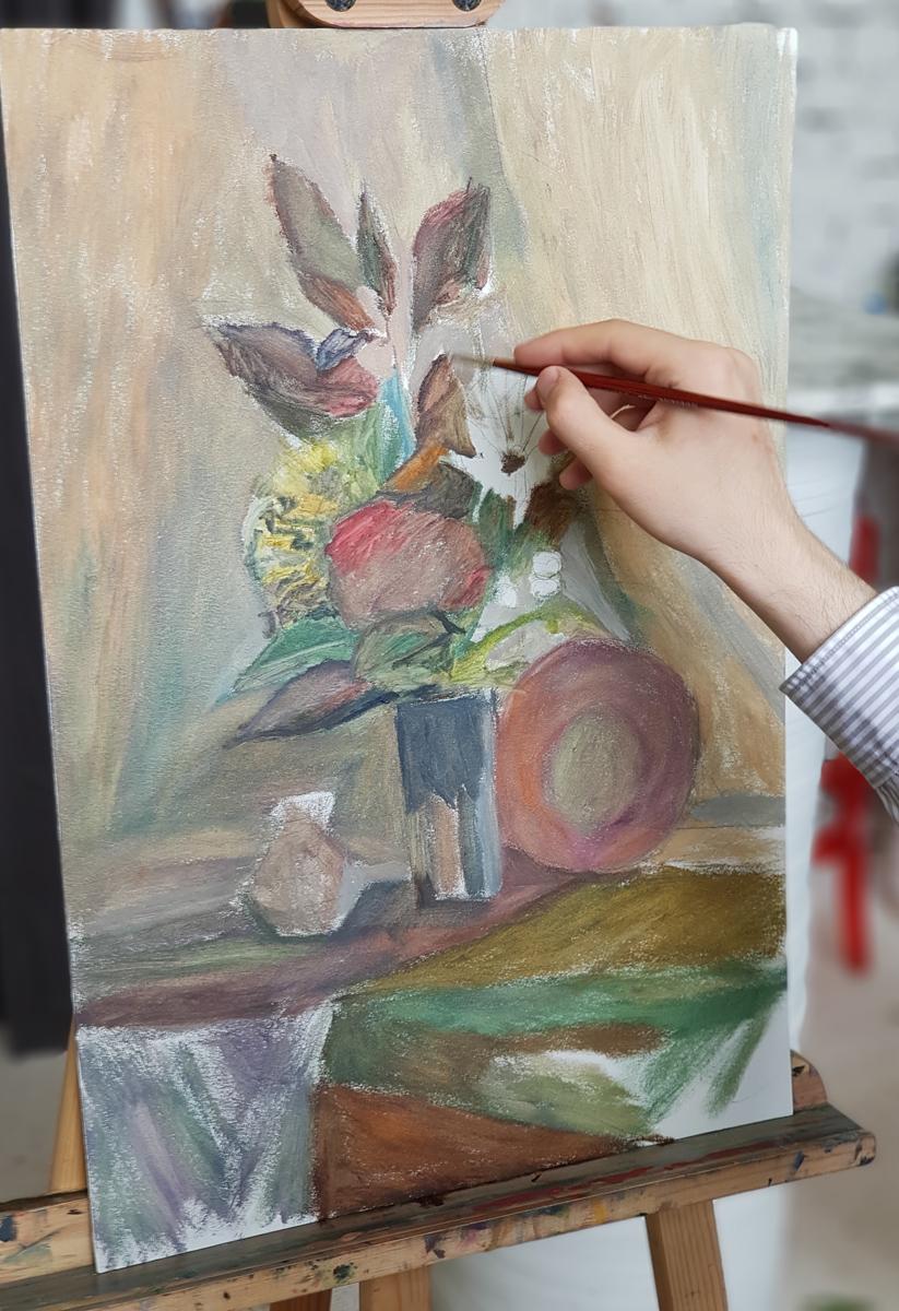 Артинтент - процесс живописи натюрморт