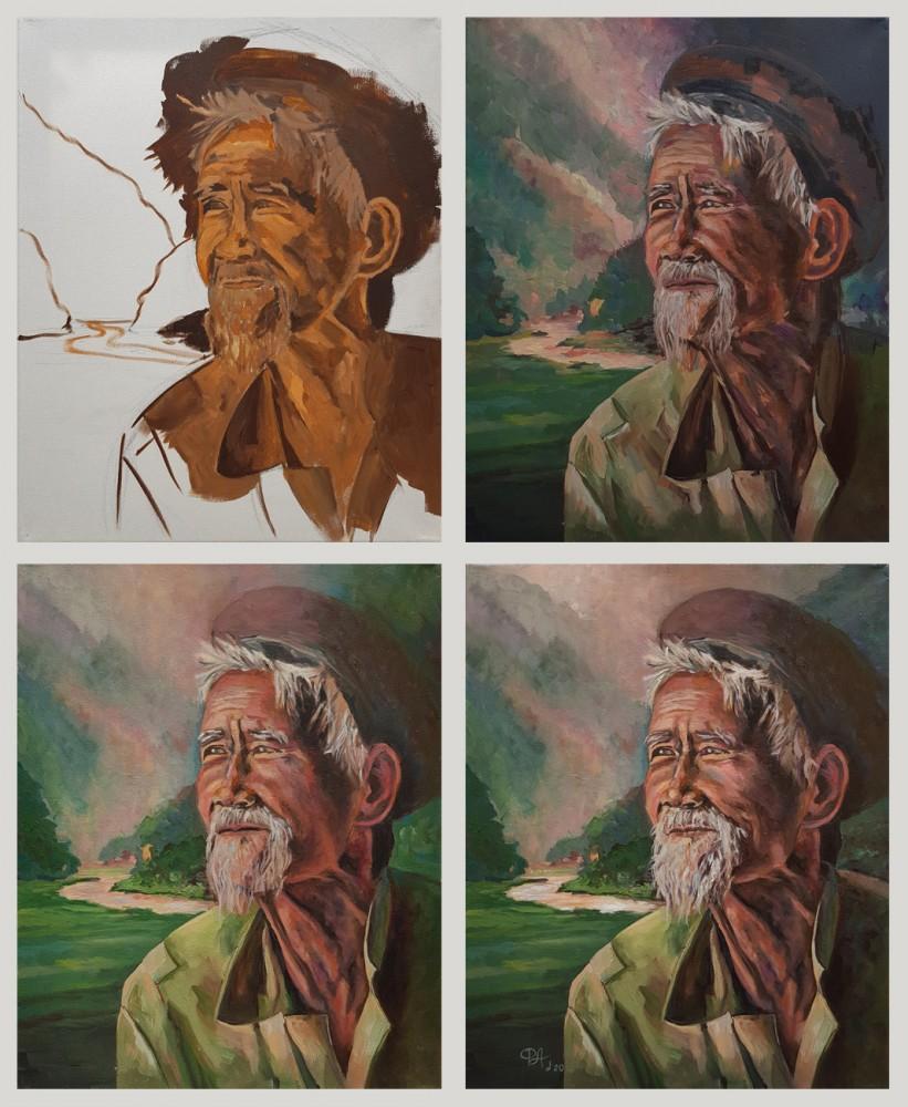 Артинтент -  Портрет поэтапное рисование