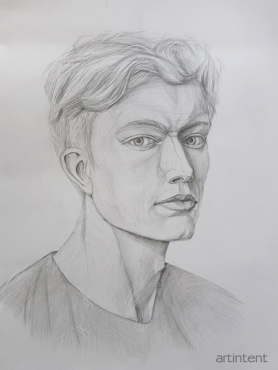 Артинтент - портрет рисунок карандаш