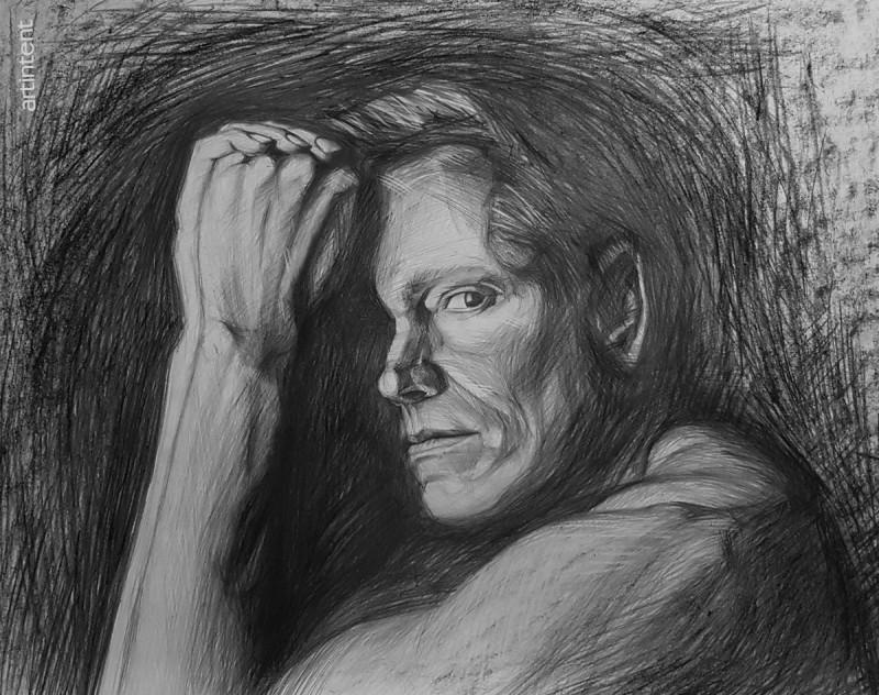Арттинтент - портрет рисунок карандашом