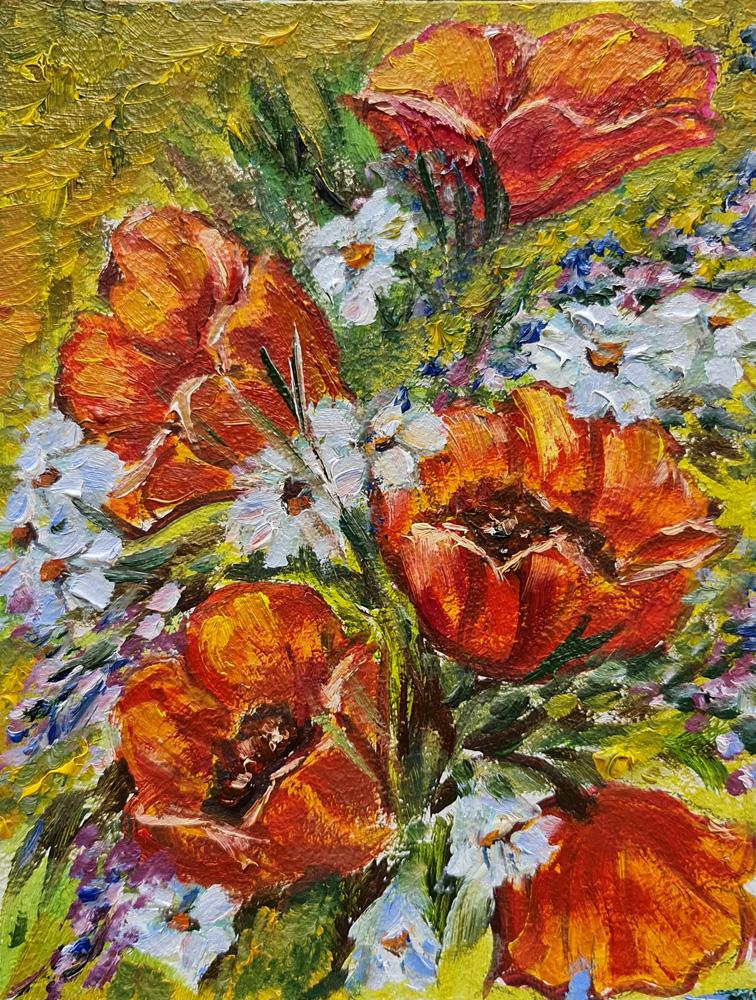 Артинтент - цветы этюд маслом