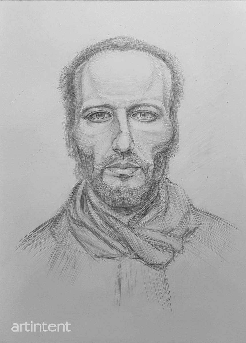 Artintent - рисунок карандашом портрет