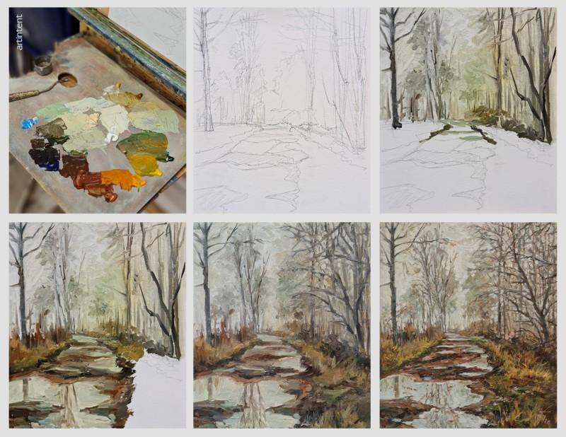 Александр Буданов - живопись маслом поэтапное рисование