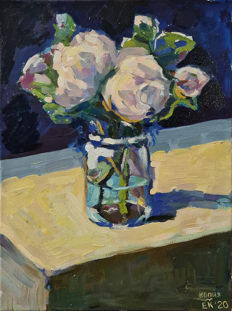 Артинтент - живопись маслом цветы