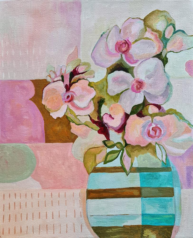 Артинтент - живопись маслом цветы, трансформация