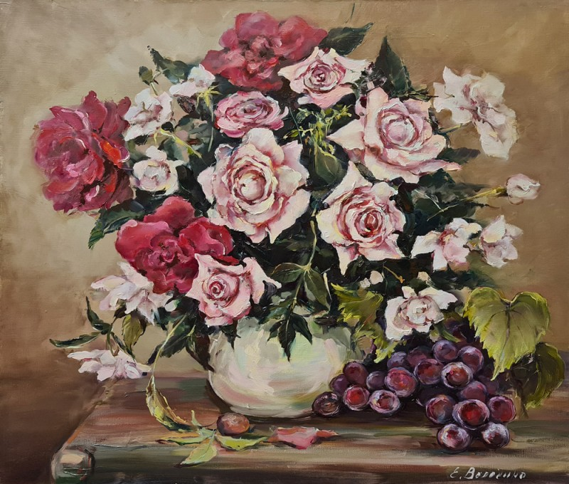 Artintent - живопись маслом розы