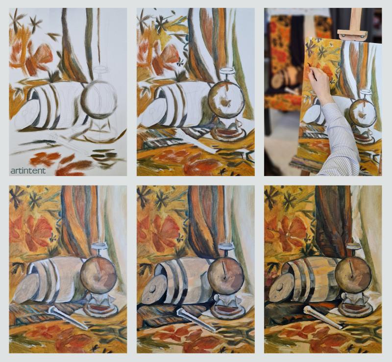 Artintent - Поэтапная живопись маслом  натюрморт