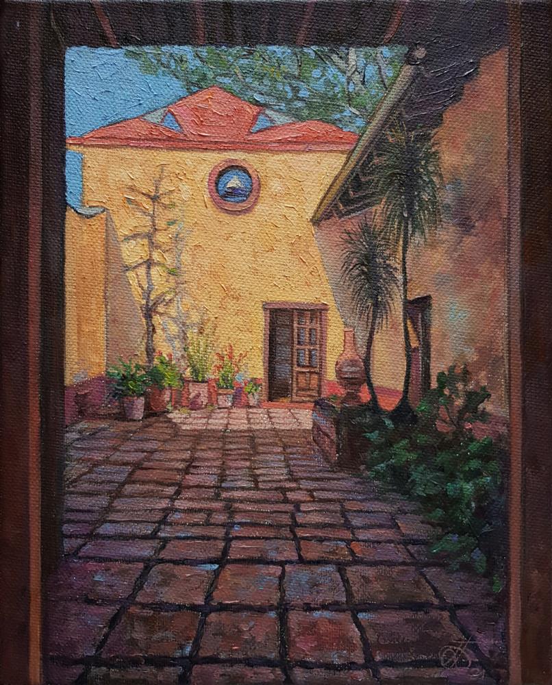 Алекандр Буданов — этюд маслом, пейзаж