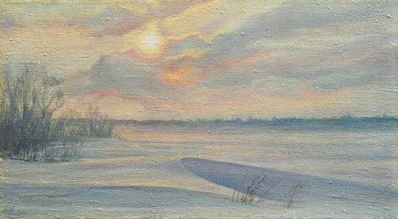 Александр Буданов — этюд маслом, зима