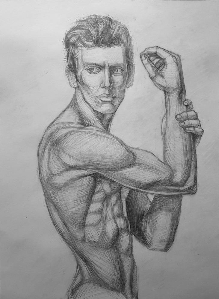 Артинтент — натура рисунок карандашом