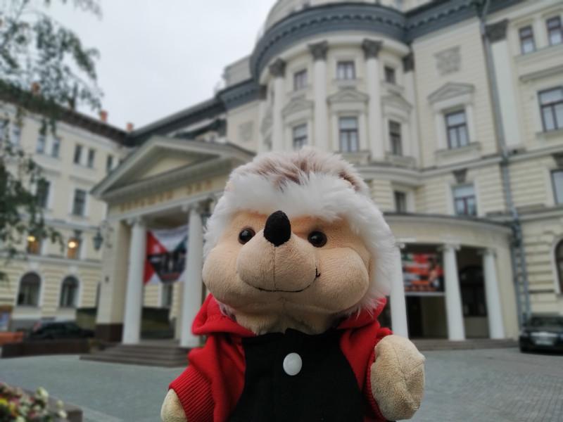 Я около Большого концертного зала Московской консерватории им. П.И. Чайковского, где будет концерт.