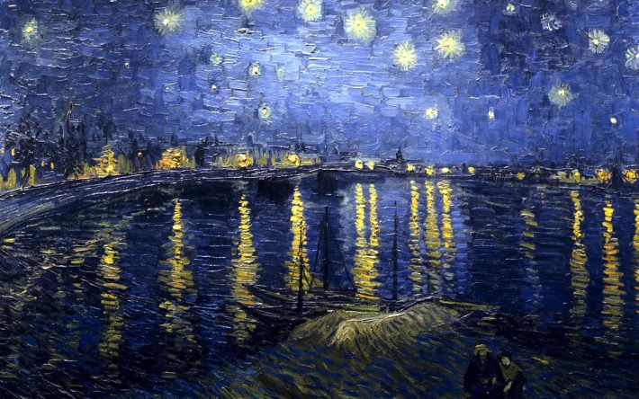 bigpreview_Van Gogh, Vincent Starry Night Over The Rhone, 1889, Paris, Orsay