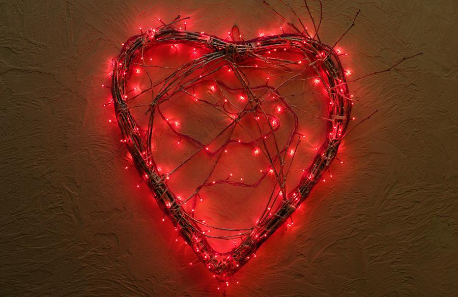 Светящееся сердце своими руками