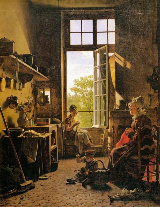 Мартен Дролин (Старший), французский художник (1752 – 1817). Интерьер кухни. 1815.