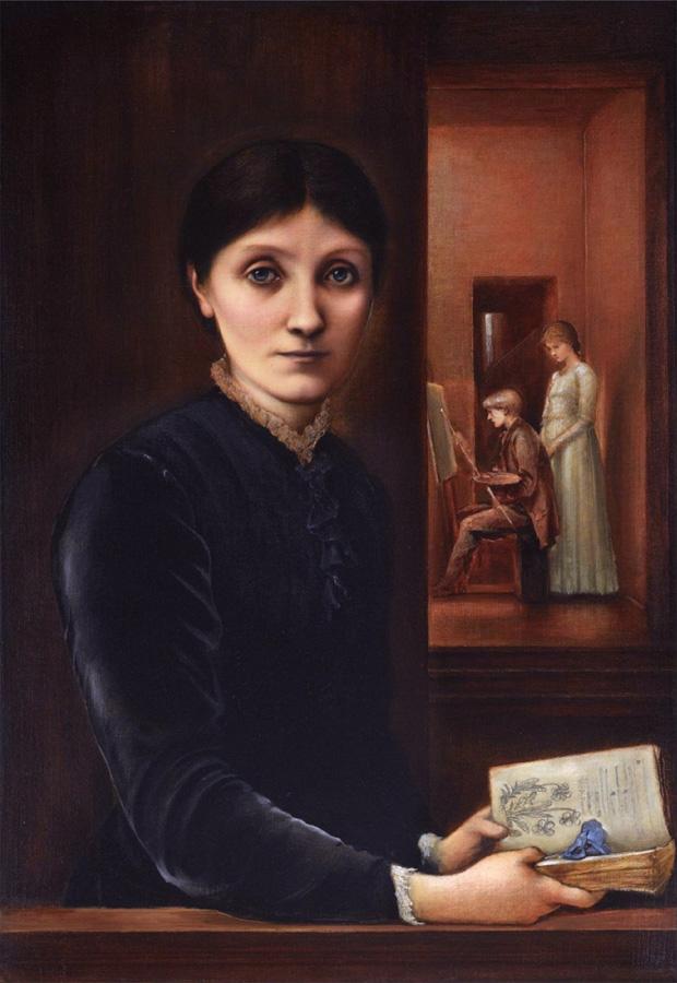 Эдвард Бёрн-Джонс (1833 –1898). Портрет Джорджианы Бёрн-Джонс с Филиппом и Маргарет. 1883.