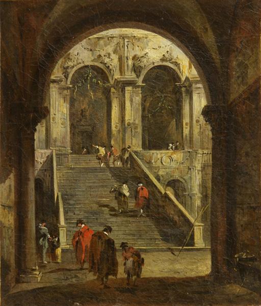 Франческо Гварди (1712 – 1793). Дворик. XVIII-й век.