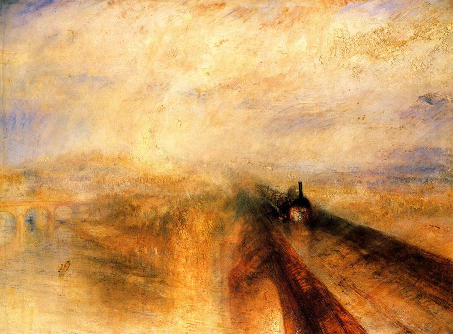 Уильям Тёрнер (1775 – 1851). Дождь, пар, скорость. 1844.