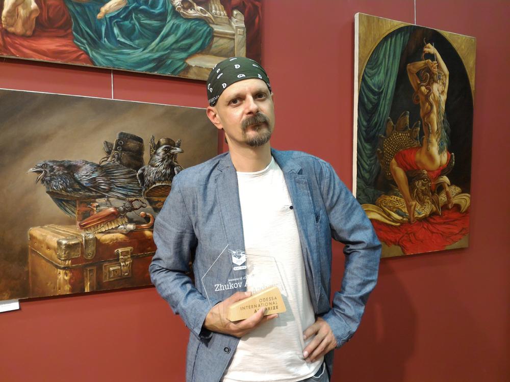 Лауреат Odessa International Art Prize 2019 художник Андрей Жуков.