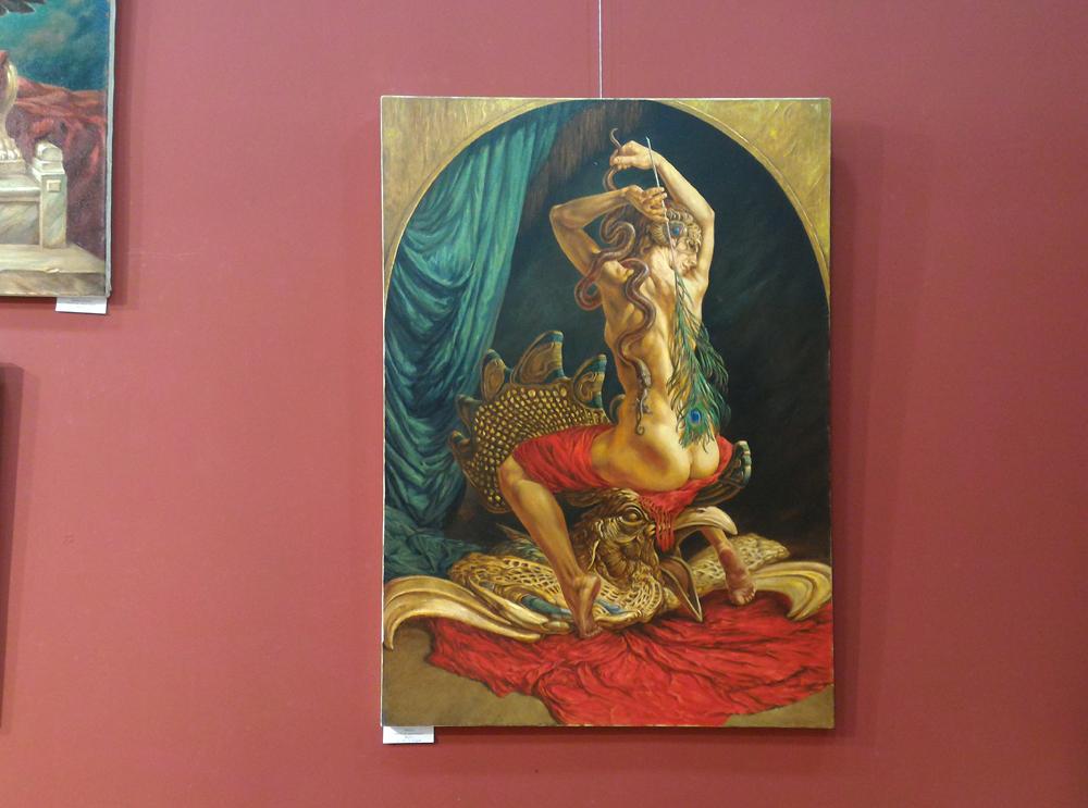 """""""Петух"""". Одна из моих работ в экспозиции выставки."""