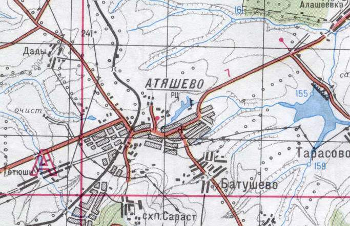 карта атяшево