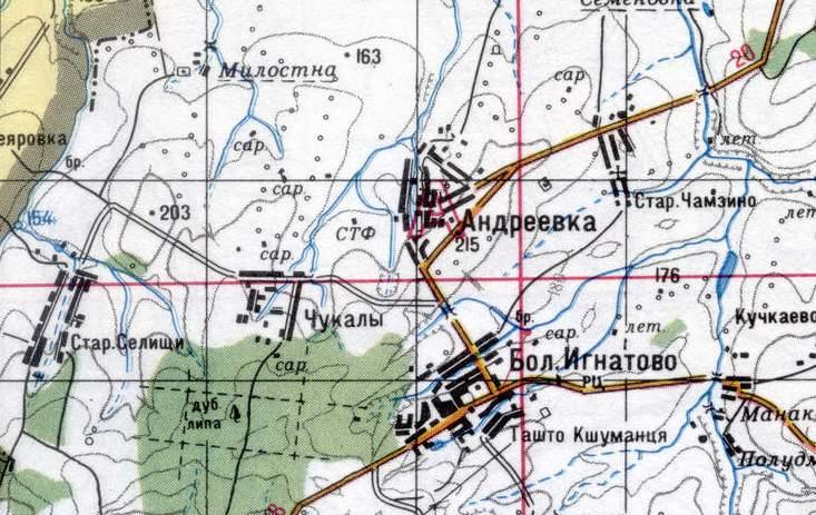 карта Большое Игнатово