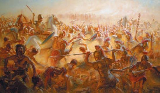 Атака карфагенской конницы при