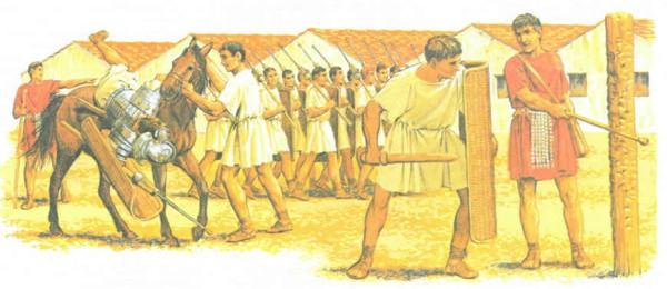 Тренировка римских легионеров